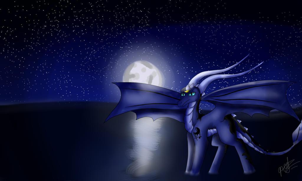 Юные художники - Страница 4 Moon_dragon_by_ognevitsa-d8sddxf