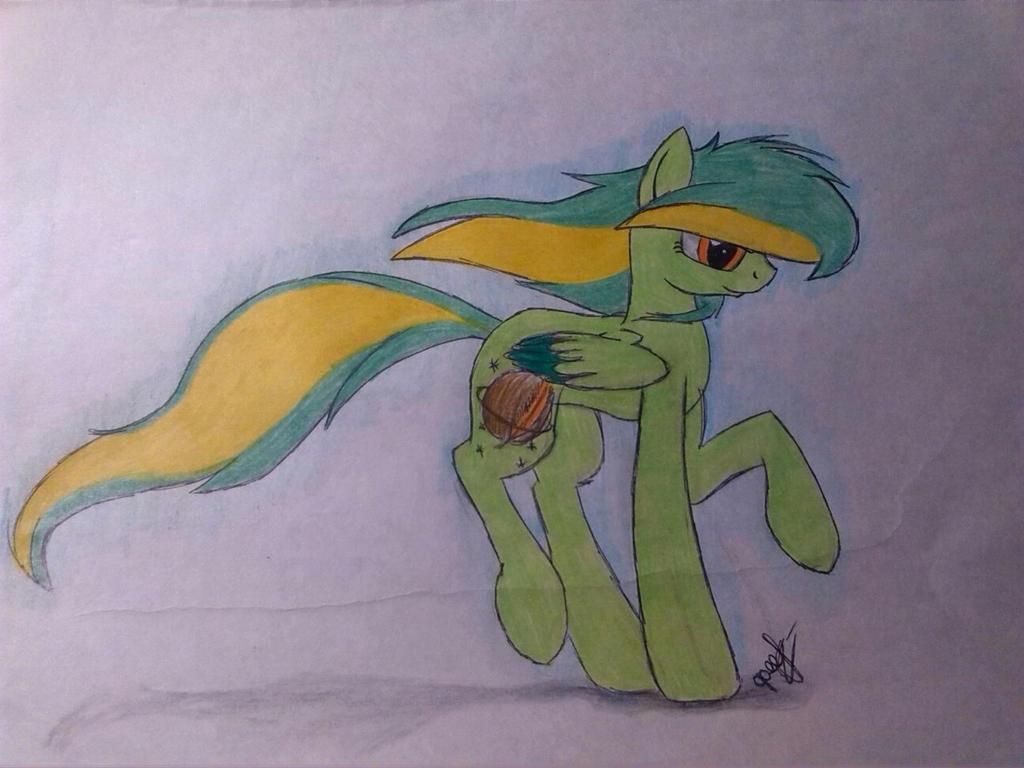 Юные художники - Страница 4 Green_pony_by_ognevitsa-d8tuqun