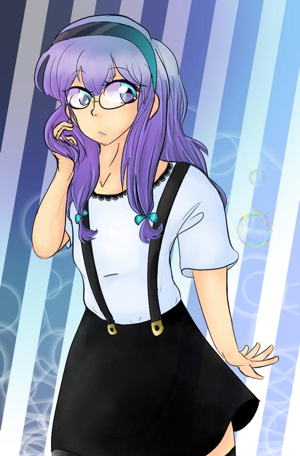 Purple hair girl by suckycat