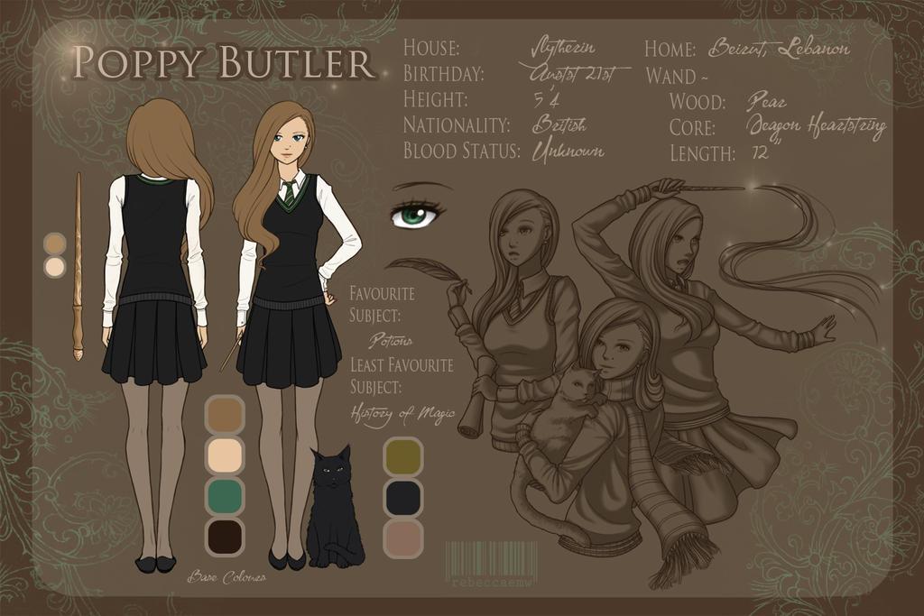 Character Sheet - Poppy Butler by LittleMissWiseass on DeviantArt