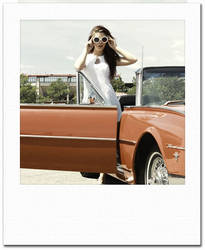 mini-Polaroid Frame Flat vintage color