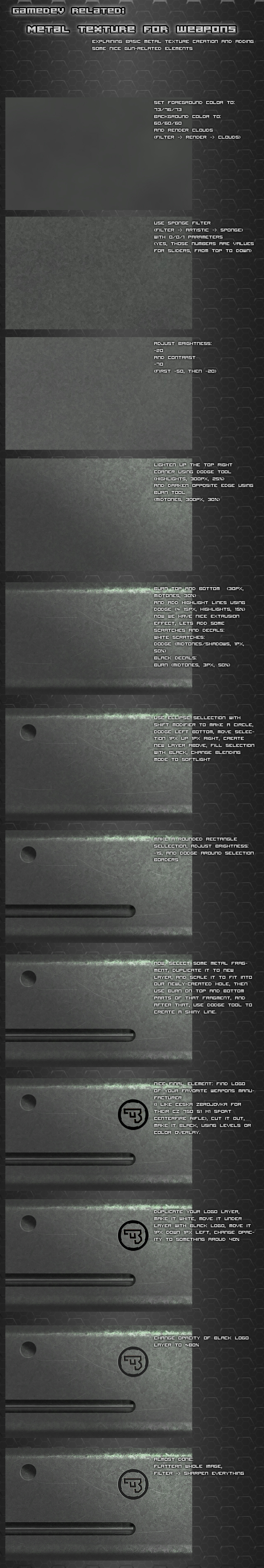 Metal texture tutorial by Pirosan
