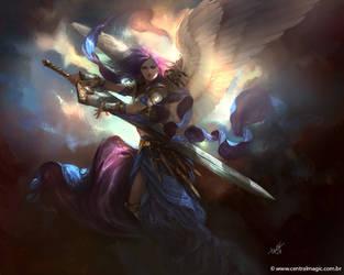 Akroma, Angel of Calm by DiegooCunha