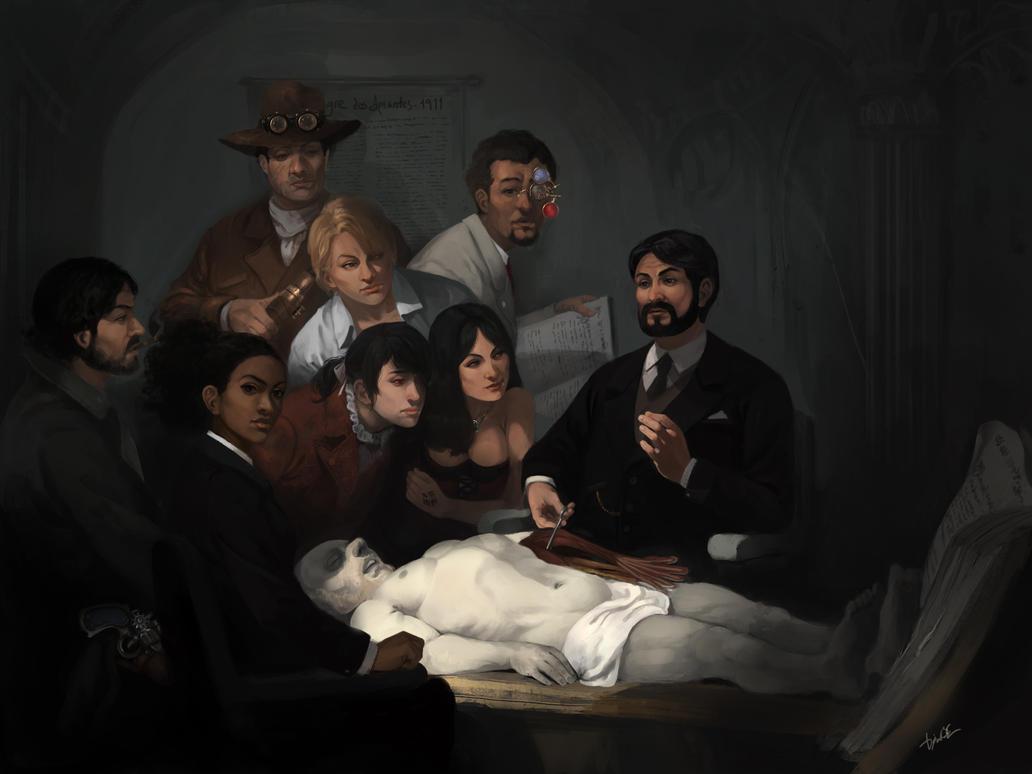 A Licao de Anatomia - The Anatomy Lesson by DiegooCunha