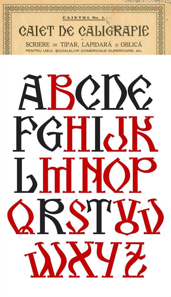 Kogaion - an old romanian font by FL0RINF on DeviantArt