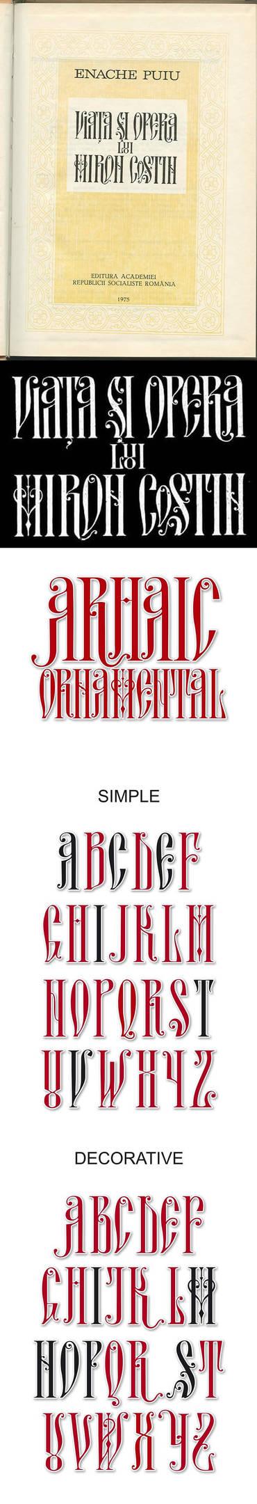 Arhaic Romanesc Ornamental