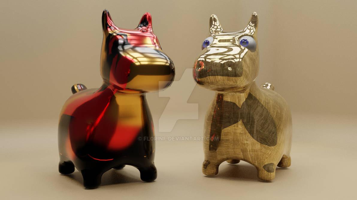 Little dog statue, a 3D model