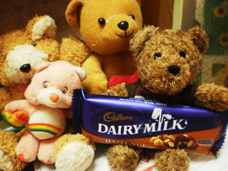 My Teddy and Cadbury by aoko-love-kaitou