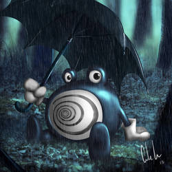 Poliwhirl and his Rain moves.