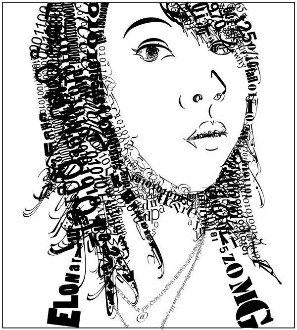 Type Self Portrait by xiaomei