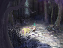 The Gnome and The Unicorn With A Lazy Horn