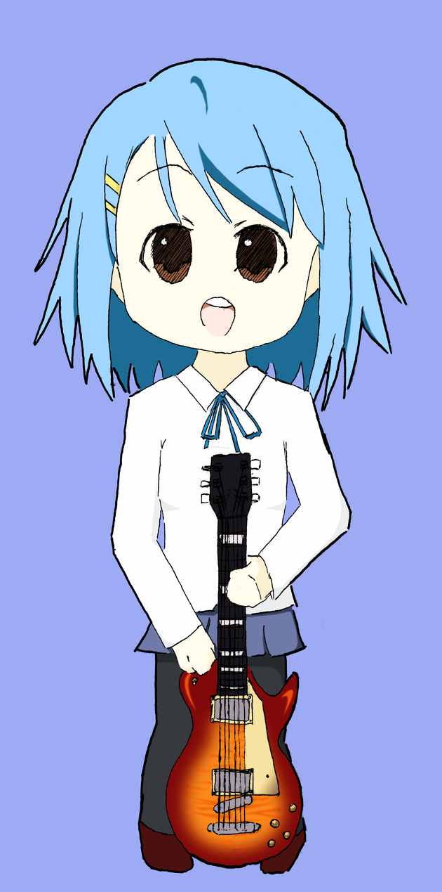 Yui with blue hair :x by Wolfii-san