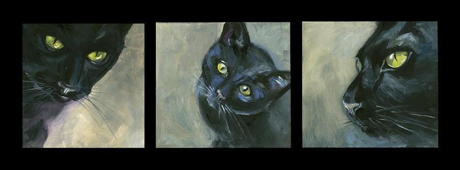 Three cats by Laniidae7