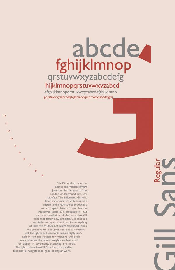 Gill Sans poster theme2 by RainHNg