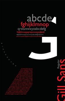 Gill Sans poster theme1