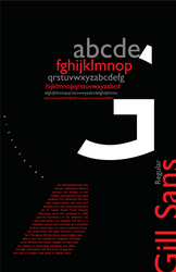Gill Sans poster theme1 by RainHNg