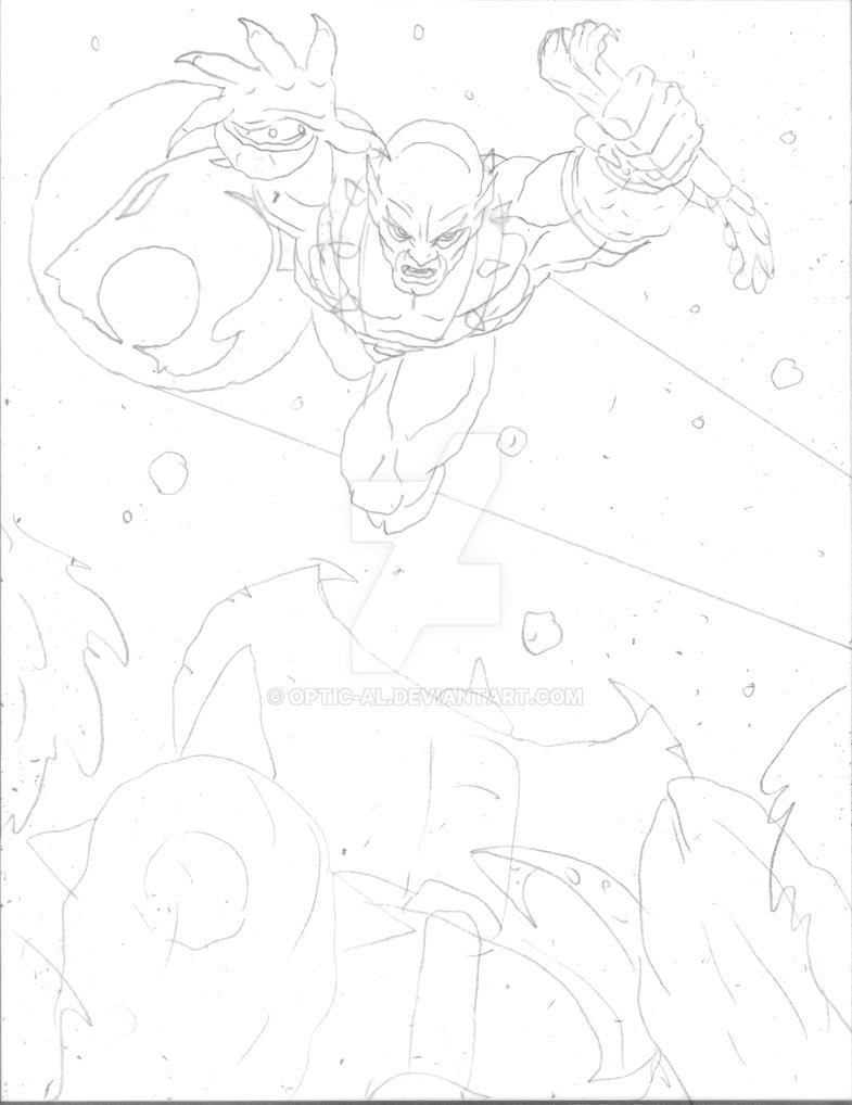 Panthro vs the Mutants pencils by Optic-AL