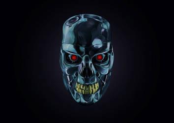 Illustrator    Terminator By Arhyam-d9ezz7n by Optic-AL