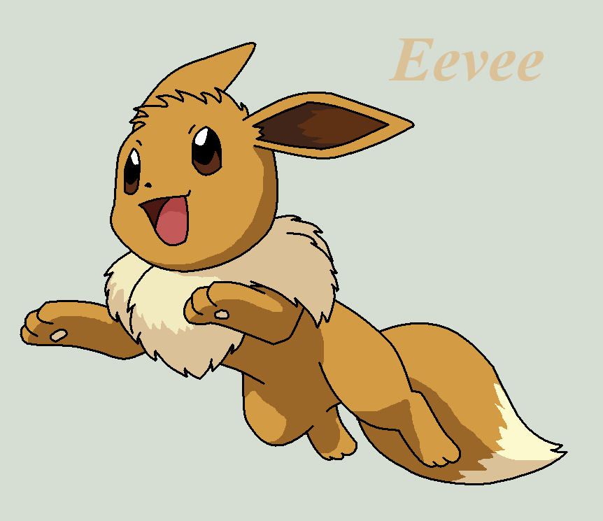 Pokemon And Y Cartoon Characters : Eevee by roky on deviantart