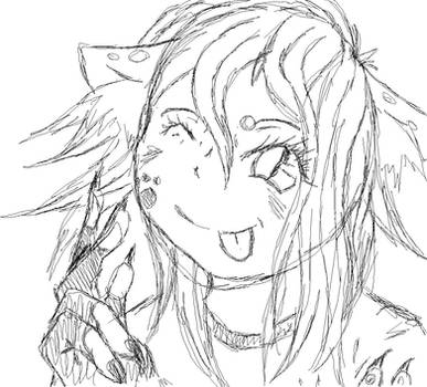 anime cat girl doodle