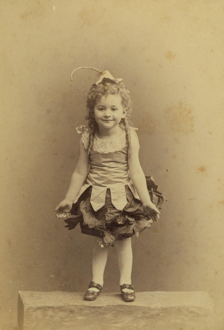 Vintage cute little girl by MementoMori-stock