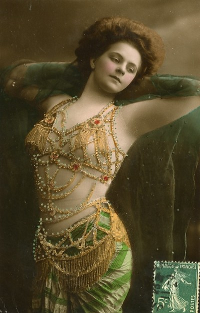 Vintage handtinted dancer by MementoMori-stock