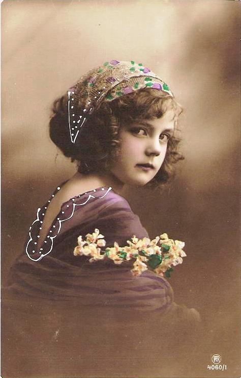 vintage postcard girl II by MementoMori-stock