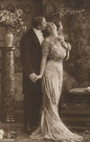 Vintage romantic couple III by MementoMori-stock