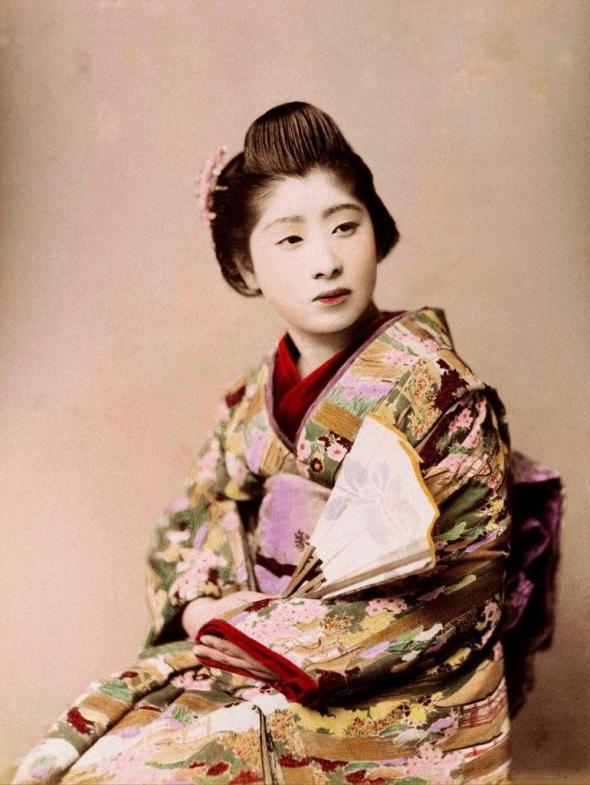 vintage japanese lady II by MementoMori-stock on DeviantArt