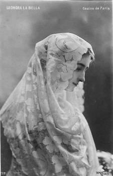 Vintage woman in shawl IX