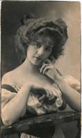 Vintage coquette lady