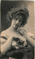 Vintage coquette lady by MementoMori-stock