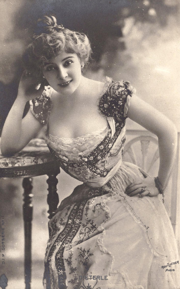 Vintage edwardian lady posing I by MementoMori-stock