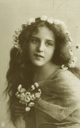 Vintage teen with flowers I