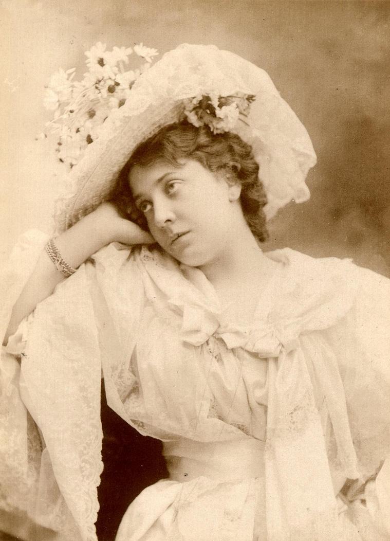 Vintage Lady posing III by MementoMori-stock