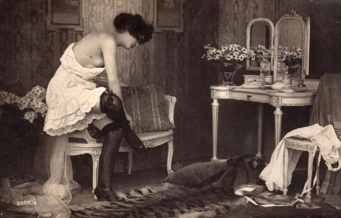 Vintage woman in underwear 001 by MementoMori-stock