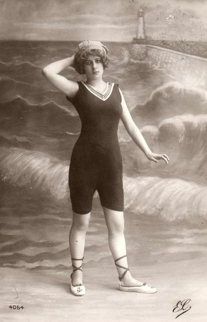 vintage 1910s bathing beauty 001 by mementomori stock on On bathing photos