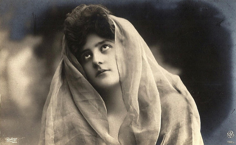 Vintage Sad Woman With Veil 002 By MementoMori Stock