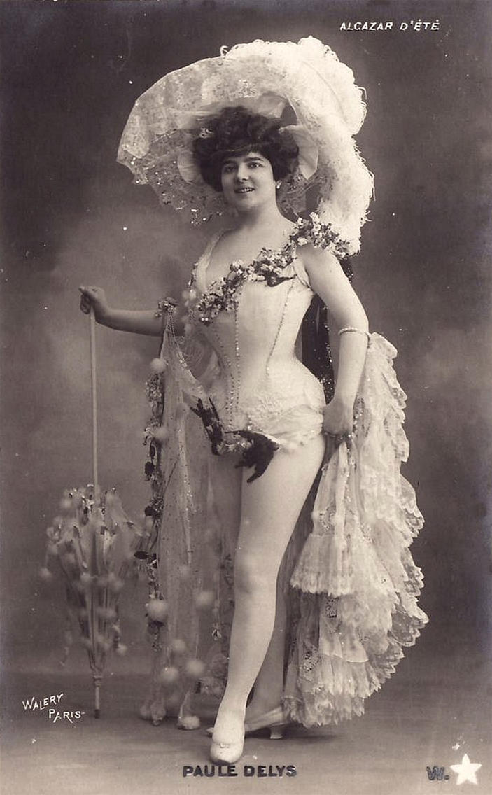 Vintage edwardian lady entertainer 001 by MementoMori-stock