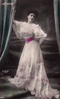 Vintage fashionable edwardian woman 002