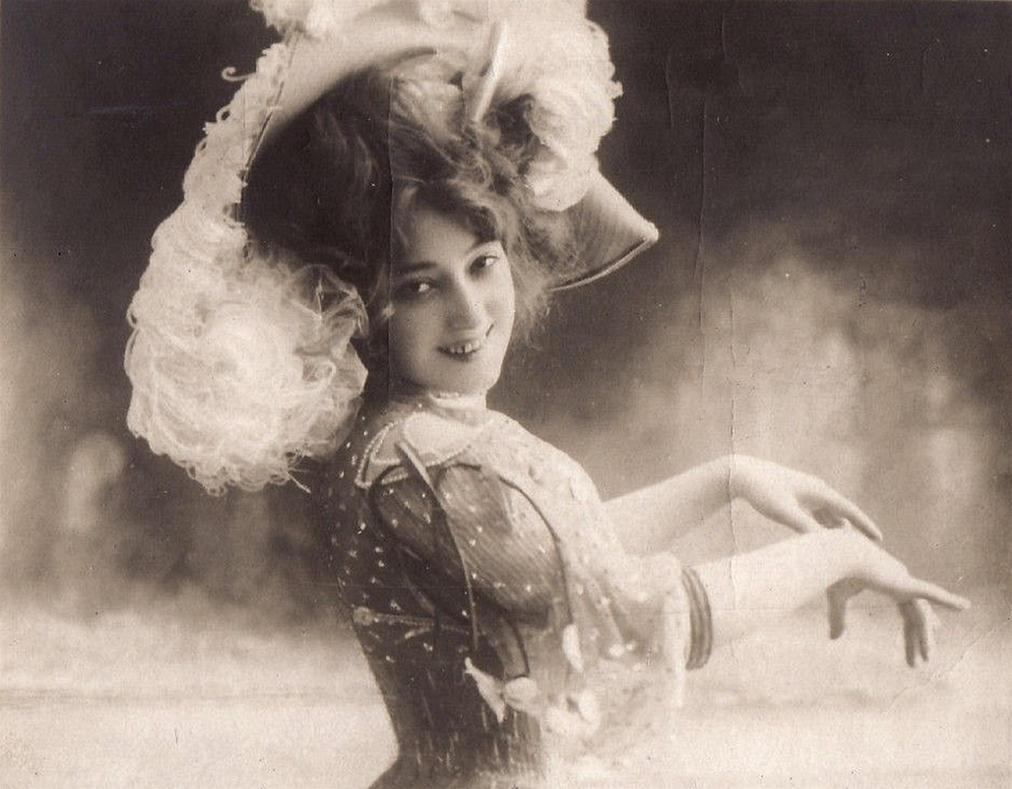 Vintage edwardian actress Miss Held by MementoMori-stock