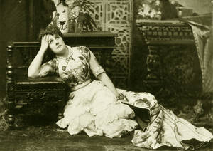 Vintage theatrical  lady 006