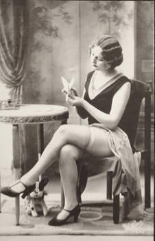 Vintage coquette risque Flapper 001