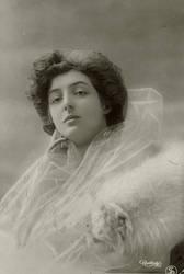 Vintage serious lady in veils 001
