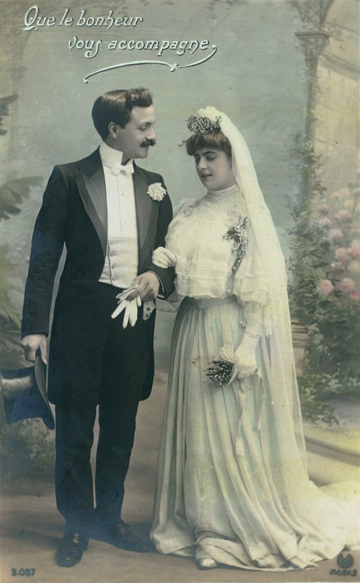 Vintage bride and groom 001 by MementoMori-stock