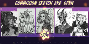 Commission sketch-portrait. OPEN. (March). by DersvingMoraine