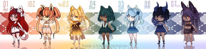 Base chibi adoptable 01-07. [OPEN] by DersvingMoraine