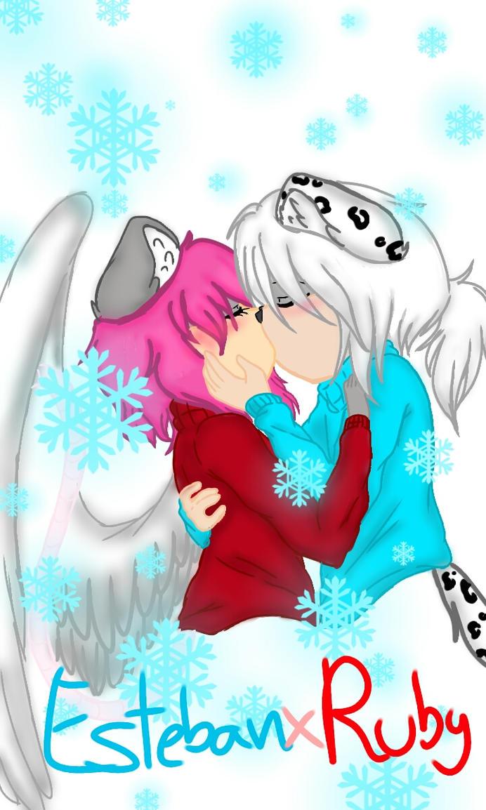 RubyxEsteban christmas by Crystalthehedgehog9
