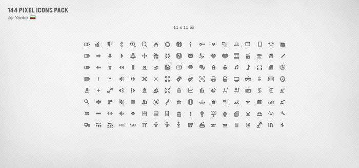 144 Pixel Icons