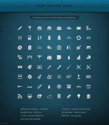 64 Auto Service Icons